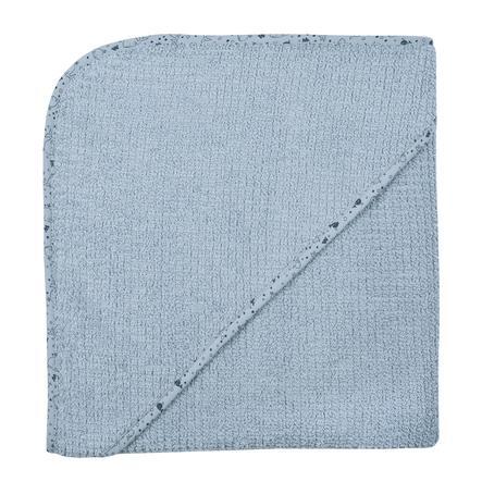 WÖRNER SÜDFROTTIER At home Kapuzenbadetuch stahlblau 100 x 100 cm