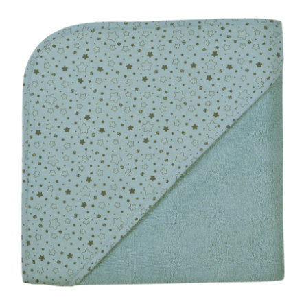 WÖRNER SÜDFROTTIER Thuis badhanddoek met capuchon sterren ijsblauw 100 x 100 cm