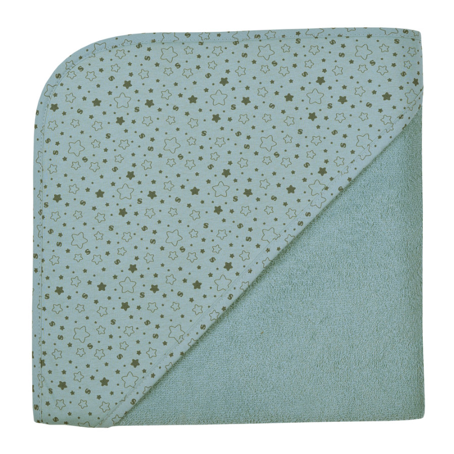 WÖRNER SÜDFROTTIER A casa l'asciugamano da bagno con cappuccio stelle blu ghiaccio 100 x 100 cm