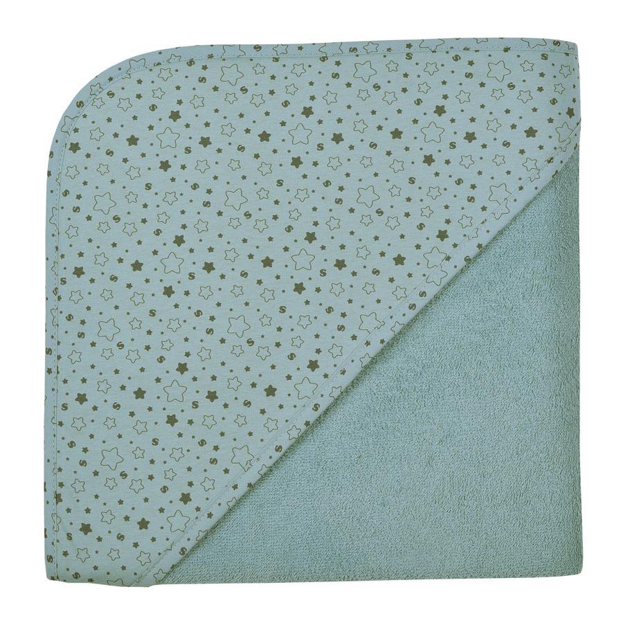 WÖRNER SÜDFROTTIER W domu ręcznik kąpielowy z kapturem gwiazdy lodowoniebieskie 100 x 100 cm