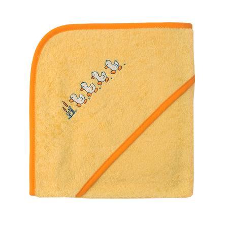 WÖRNER SÜDFROTTIER Asciugamano da bagno con cappuccio giallo anatra 100 x 100 cm