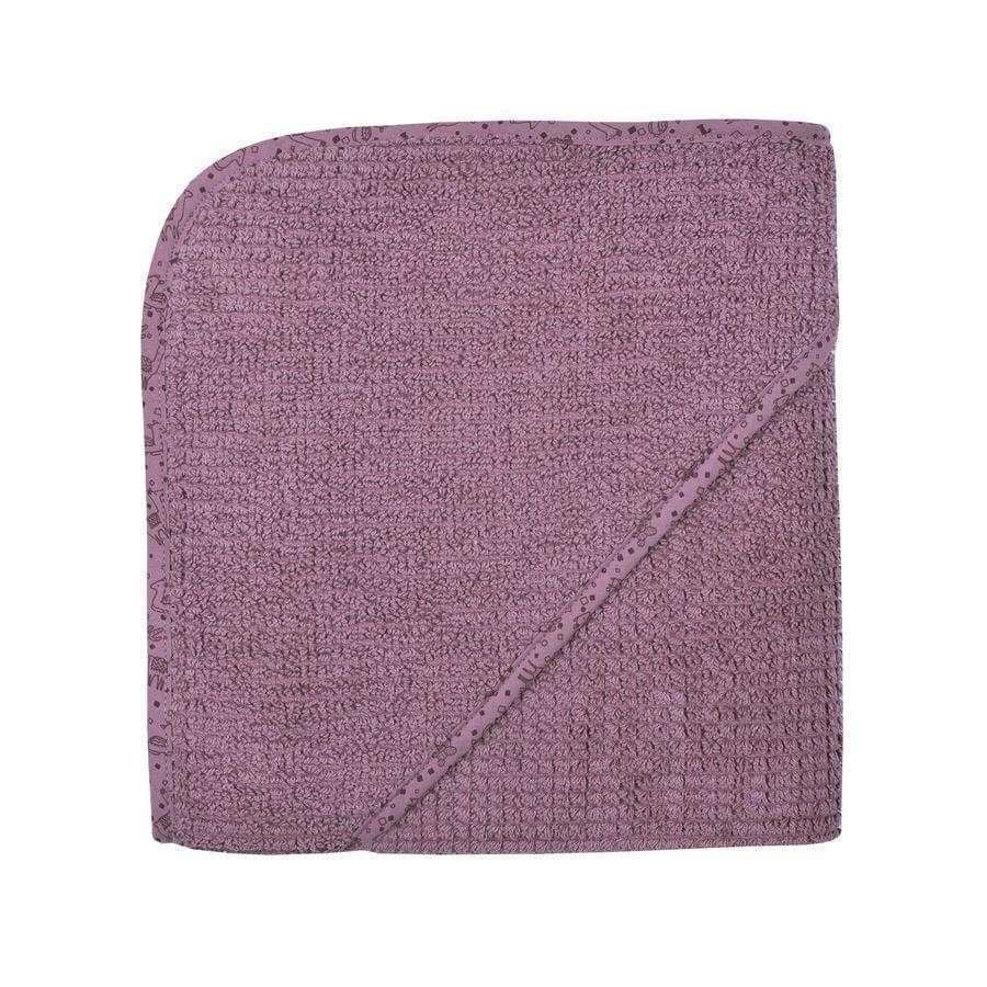 WÖRNER SÜDFROTTIER Badehåndklæde med hætte lilla 80 x 80 cm