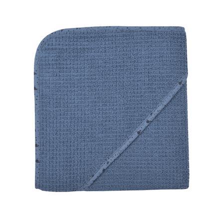 WÖRNER SÜDFROTTIER Badhanddoek met capuchon thuis donkerblauw 80 x 80 cm