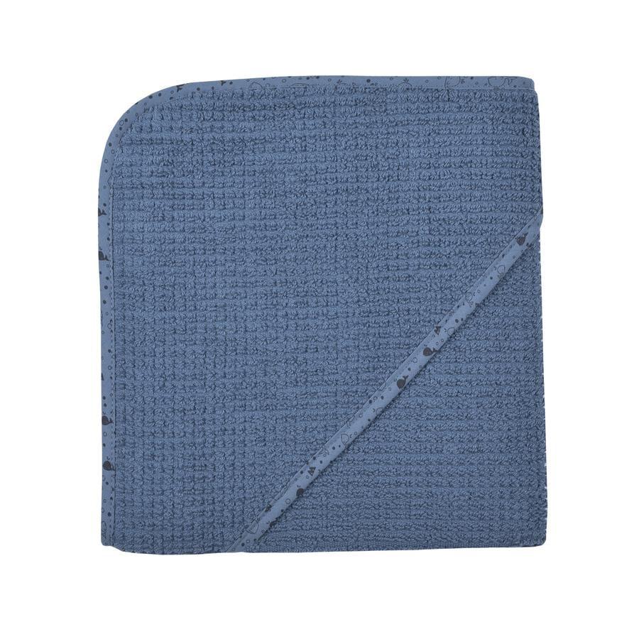 WÖRNER SÜDFROTTIER At home Kapuzenbadetuch dunkelblau 80 x 80 cm
