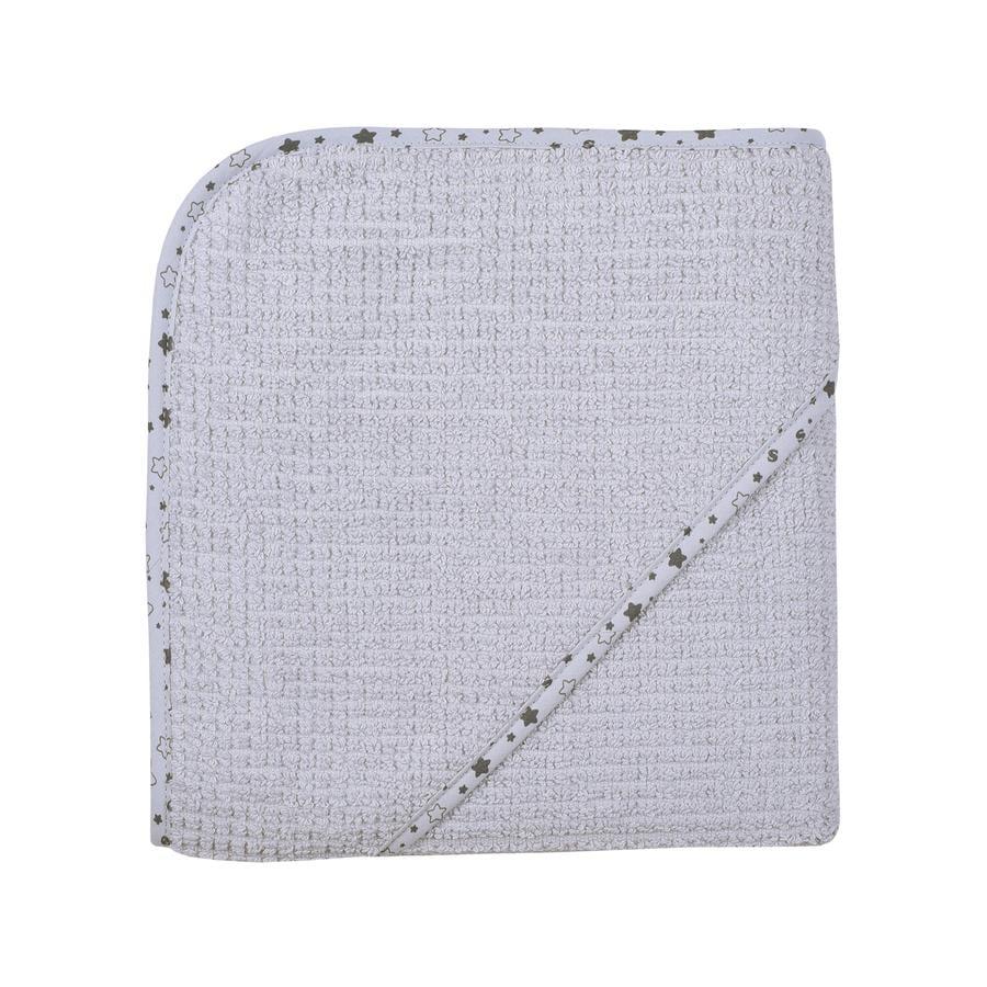 WÖRNER SÜDFROTTIER Cape de bain enfant At home gris clair 80x80 cm