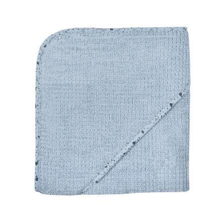 WÖRNER SÜDFROTTIER At home Kapuzenbadetuch stahlblau 80 x 80 cm