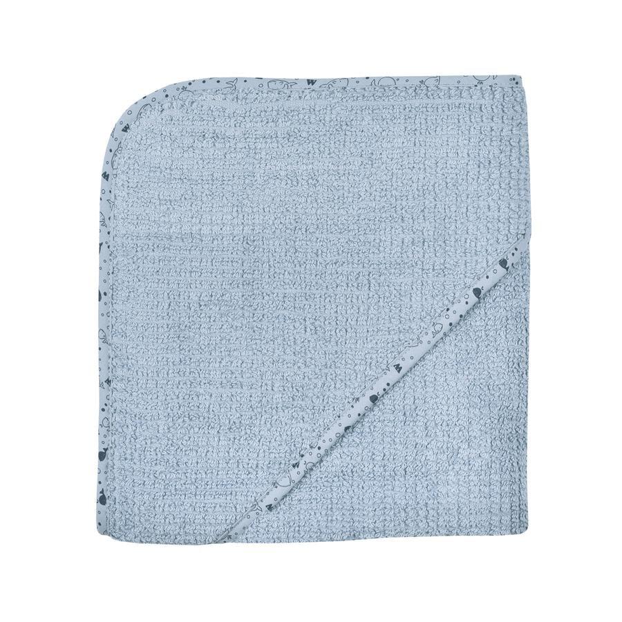 WÖRNER SÜDFROTTIER Badehåndklæde med hætte stålblå 80 x 80 cm