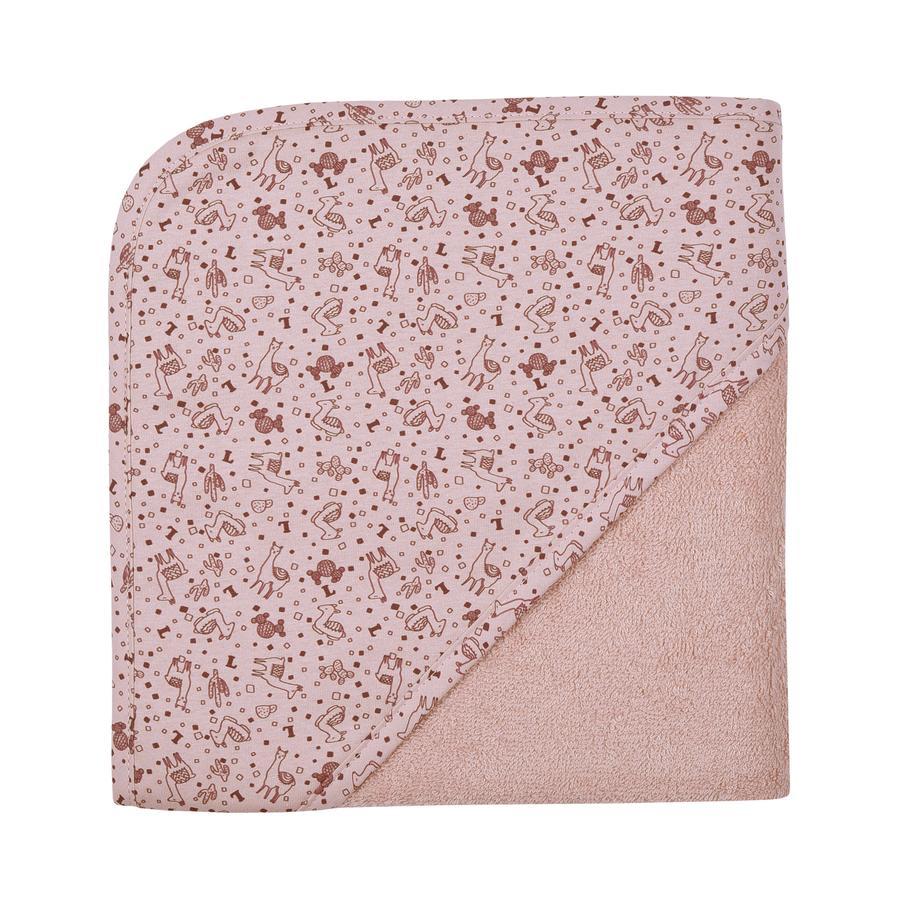 WÖRNER SÜDFROTTIER Badhanddoek lama's oud roze 80 x 80 cm