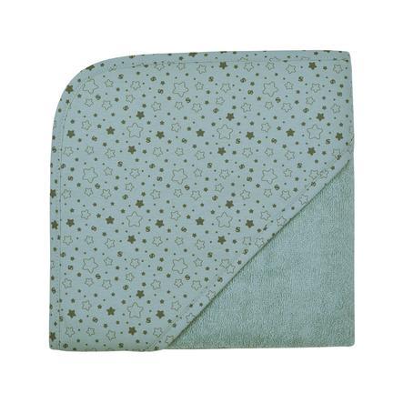 WÖRNER SÜDFROTTIER Badhanddoek met kap sterren ijsblauw 80 x 80 cm
