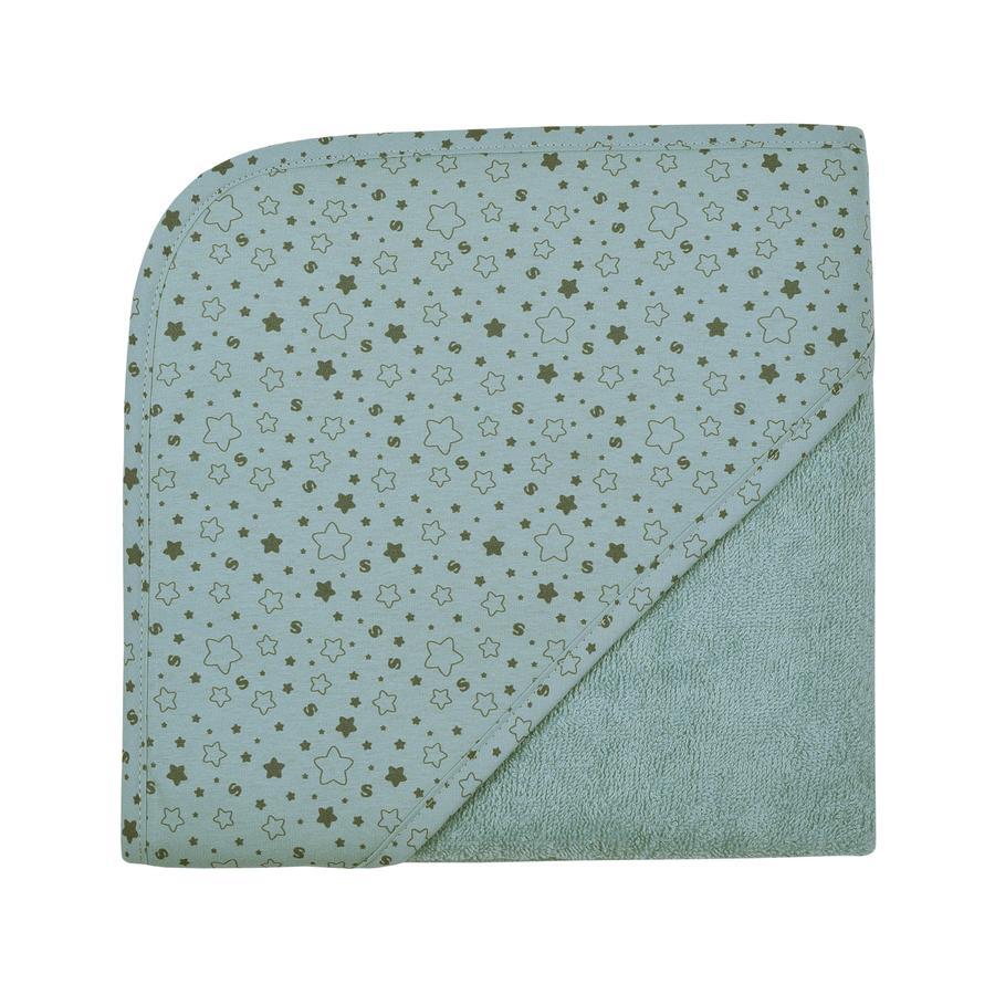 WÖRNER SÜDFROTTIER Ręcznik kąpielowy z kapturem gwiazdy lodowoniebieskie 80 x 80 cm