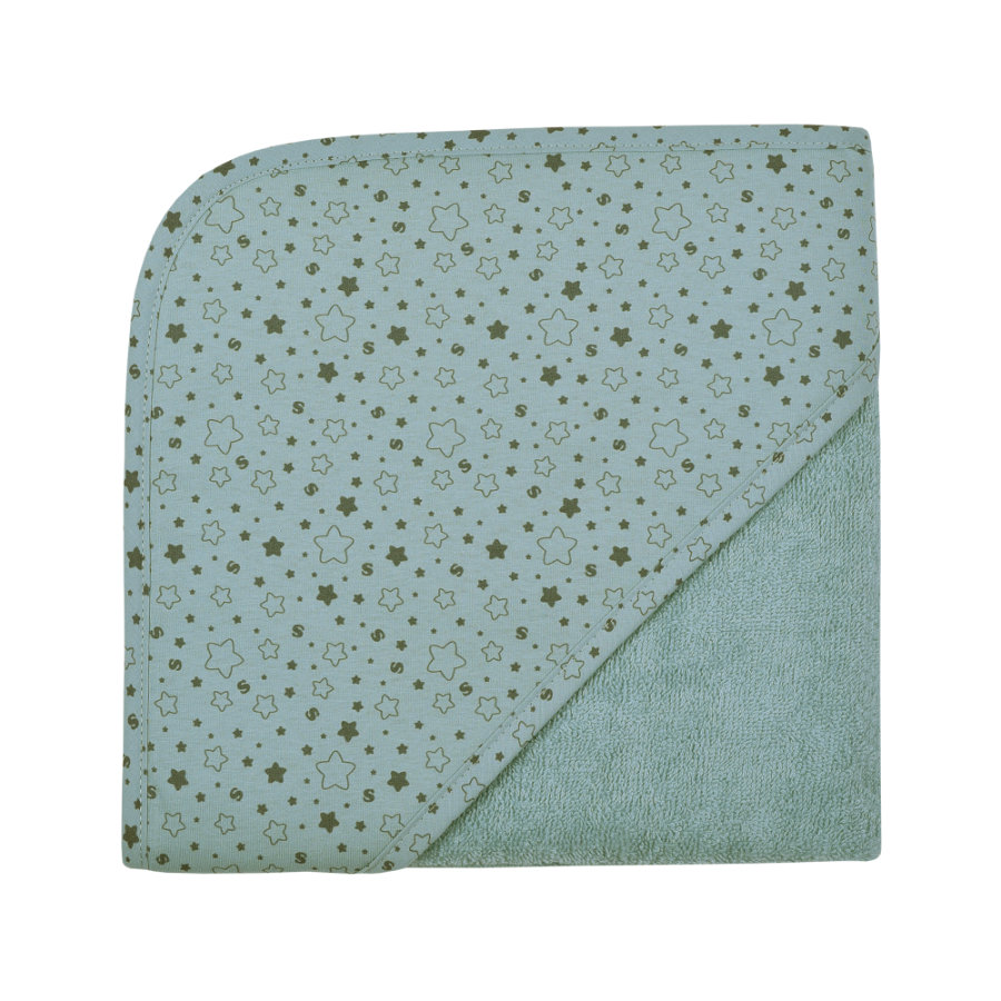 WÖRNER SÜDFROTTIER Toalla de baño con capucha estrellas azul hielo 80 x 80 cm
