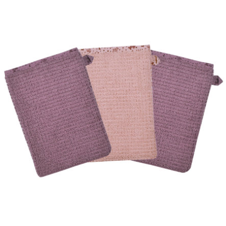 WÖRNER SÜDFROTTIER Guante de lavado rosa 3 pack