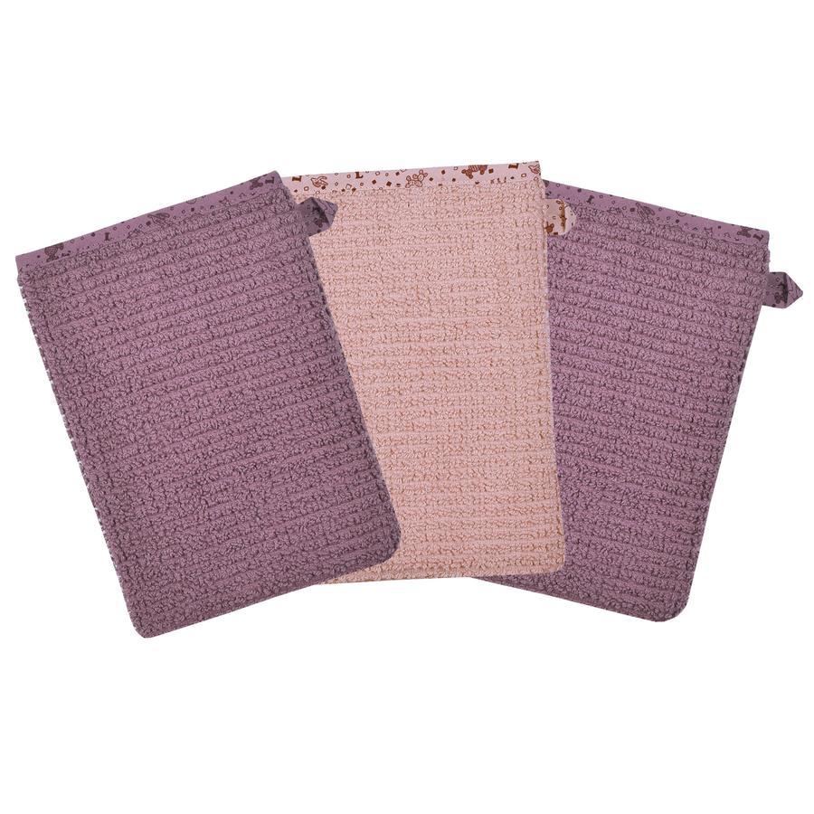 WÖRNER SÜDFROTTIER Waschhandschuh rosa 3er Pack