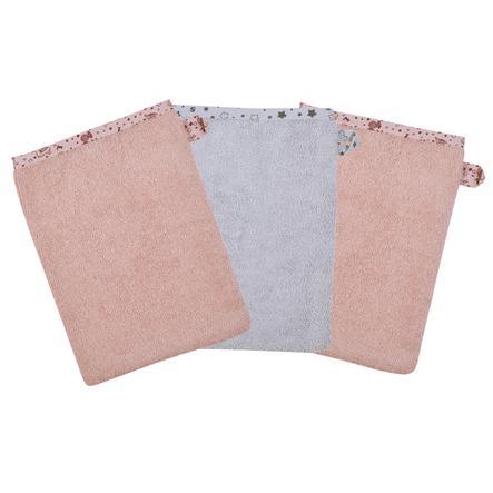 WÖRNER SÜDFROTTIER Waschhandschuh Lamas rosa 3er Pack