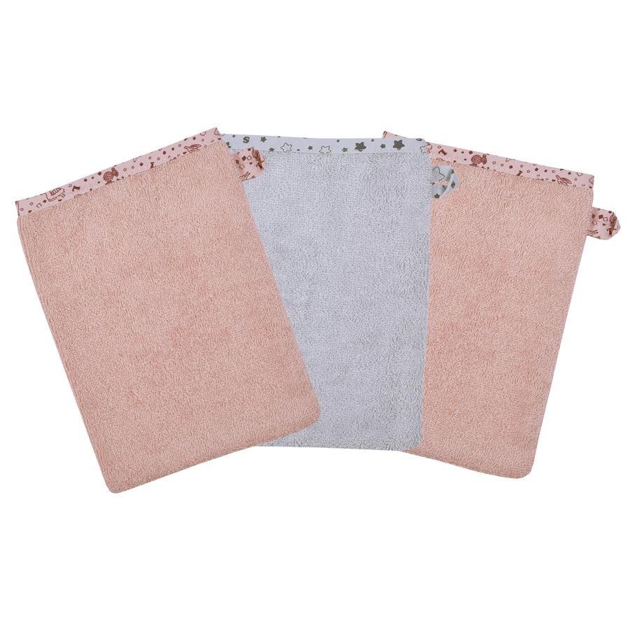 WÖRNER SÜDFROTTIER Rękawiczki do mycia lamy różowe 3-pak.