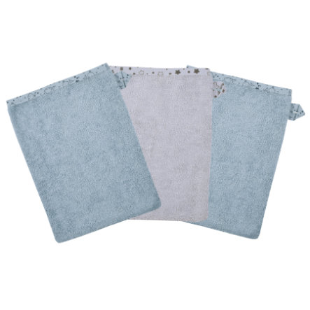 WÖRNER SÜDFROTTIER Waschhandschuh Wal blau 3er Pack