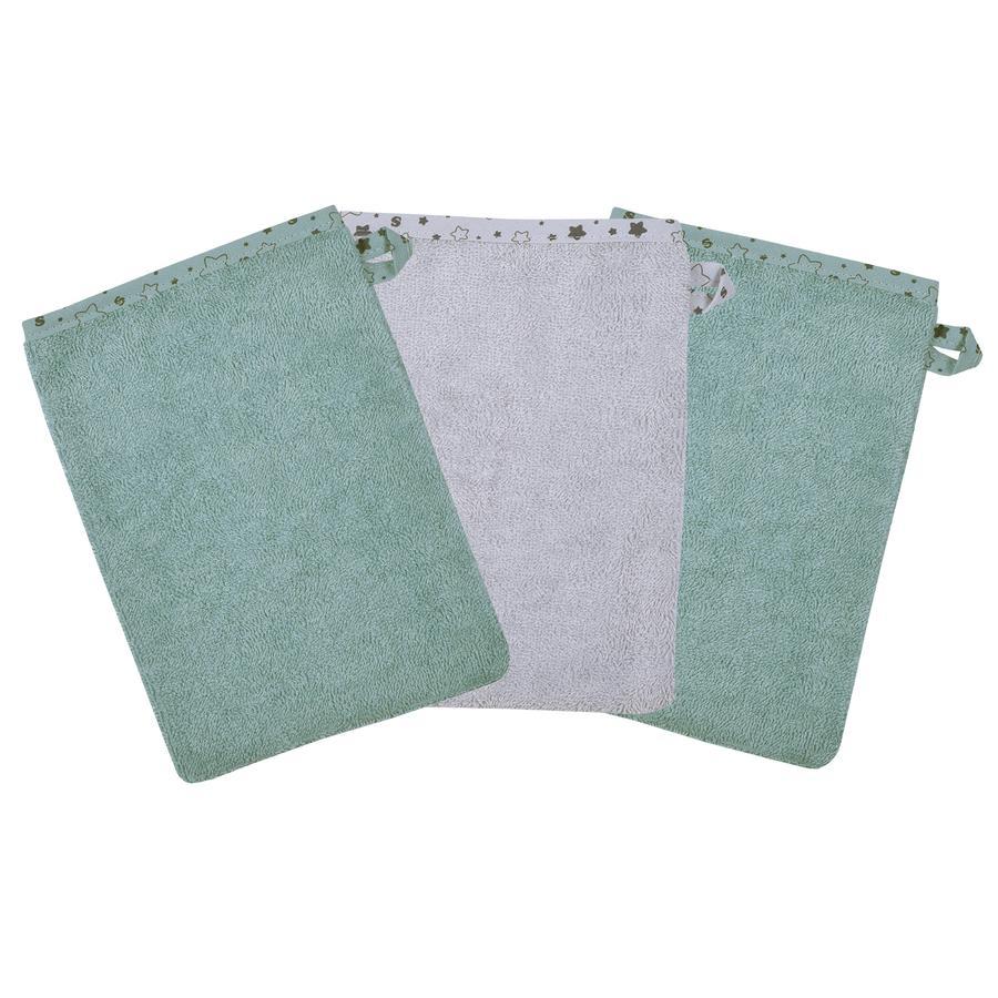 WÖRNER SÜDFROTTIER Washandje Stene ijsblauw 3-pack