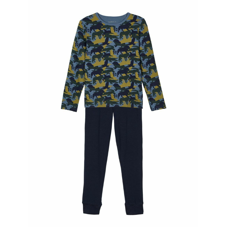 Name it Pyjama 2-osainen NKM NIGHT SET China Blue