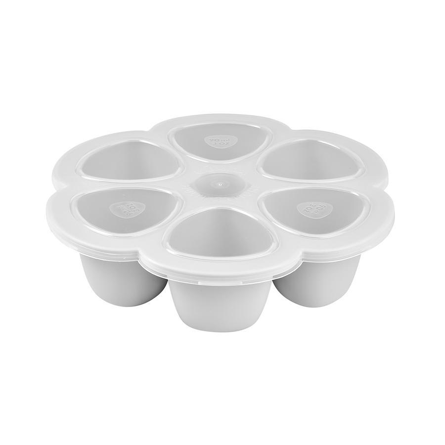 BEABA Aufbewahrungsbehälter Multiportions 6 x 90 ml hellgrau