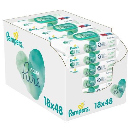 Pampers Aqua Pure Salviettine umidificate, pacco convenienza 18 x 48 (864 pezzi)