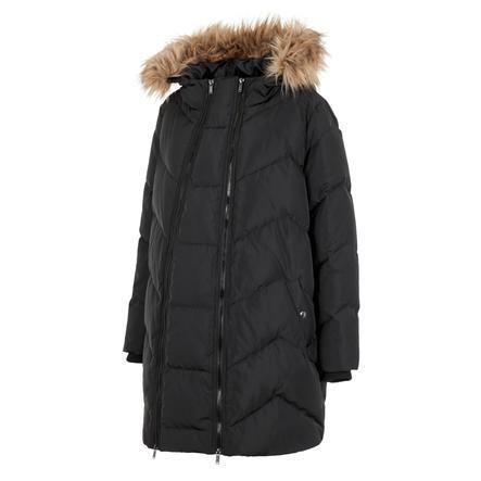 mamalicious polstrovaný těhotenský kabát 2 v 1 MLSICILIA černý