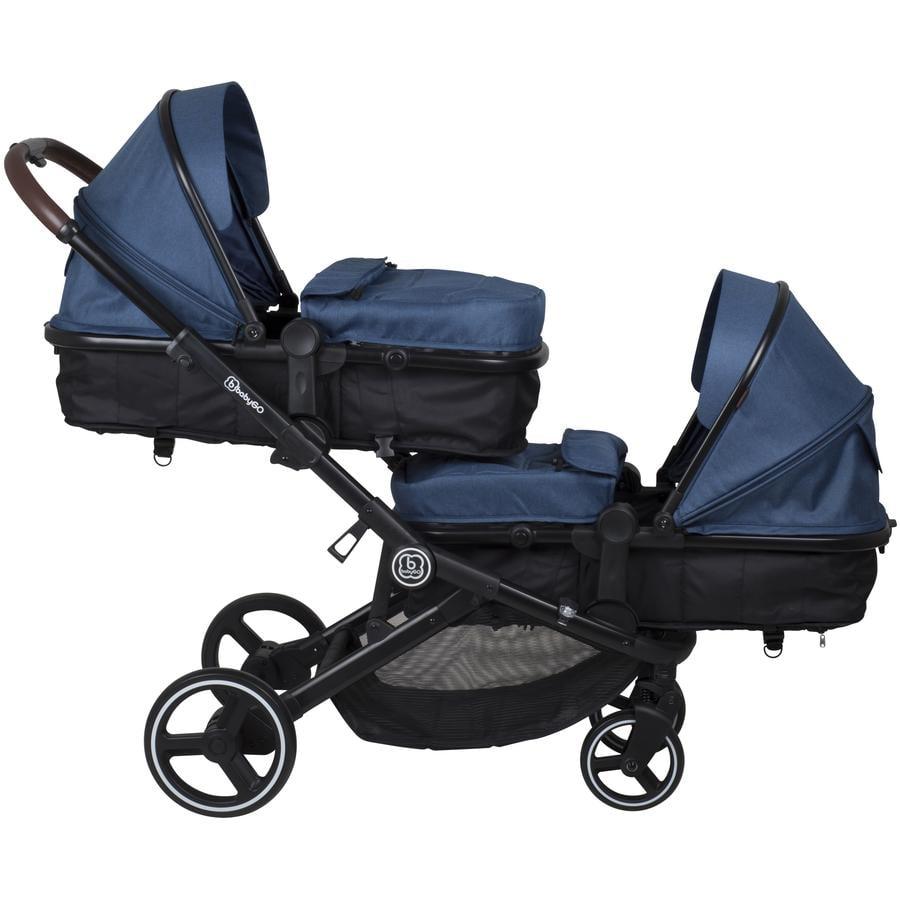 babyGO Søskenbil Twiner Blue