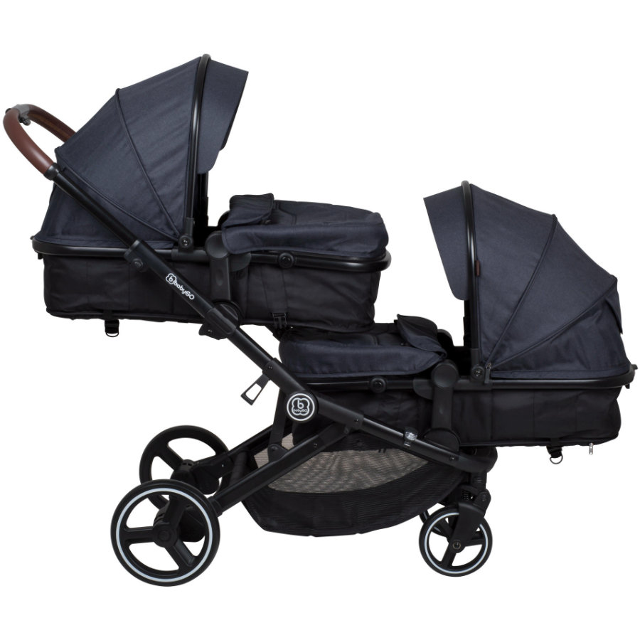 babyGO Poussette double inline Twiner grey