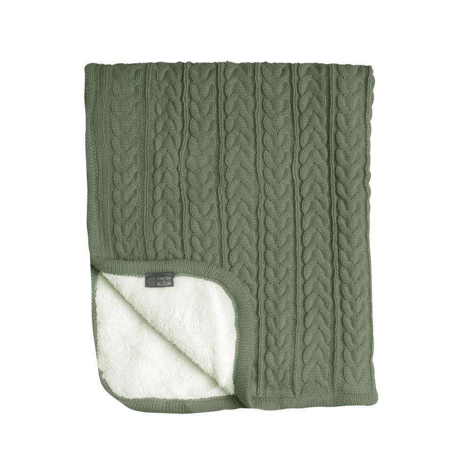 VINTER& BLOOM  Přikrývka Snuggle Cuddly Forest Green