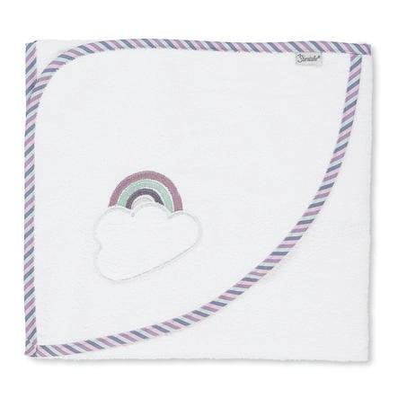 Sterntaler Badehåndkle med hette Pauline hvit 80 x 80 cm