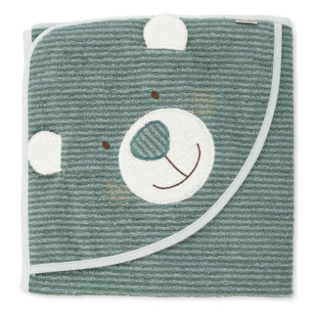 Sterntaler Badehåndkle med hette Ben mediumgrønn 100 x 100 cm