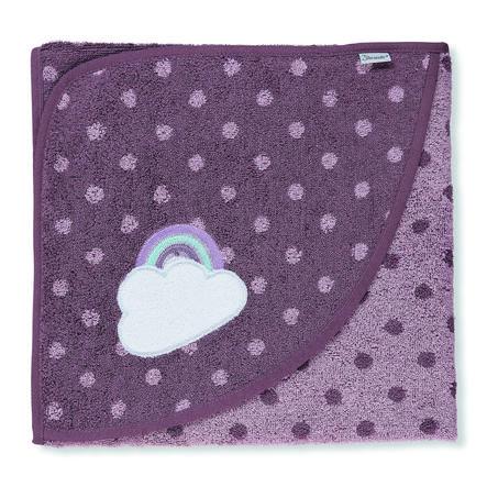 Sterntaler Asciugamano da bagno con cappuccio Pauline viola chiaro 100 x 100 cm