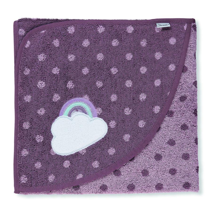 Sterntaler Badehåndklæde med hætte Pauline lyslilla 100 x 100 cm