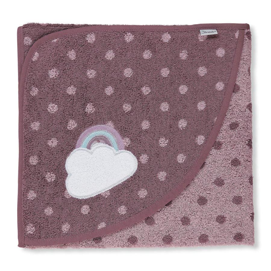 Sterntaler Ręcznik kąpielowy z kapturem Pauline light purple 100 x 100 cm