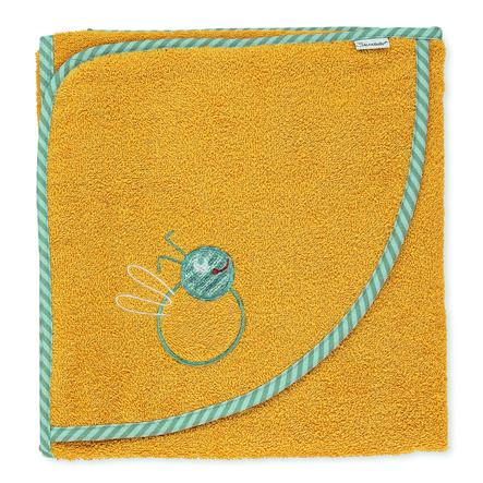 Sterntaler Hupullinen kylpypyyhe Ben keltainen 100 x 100 cm