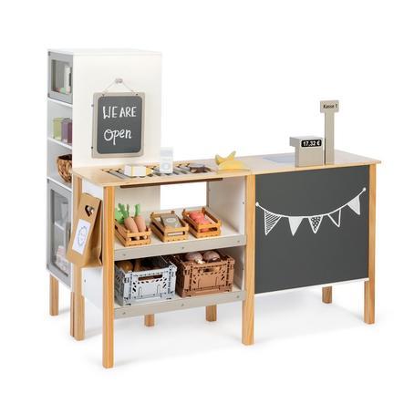 MUSTERKIND® Kaufladen- Cassia - weiß/natur/warmgrau