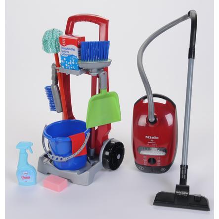 Theo klein MIELE: Wózek do sprzątania + odkurzacz
