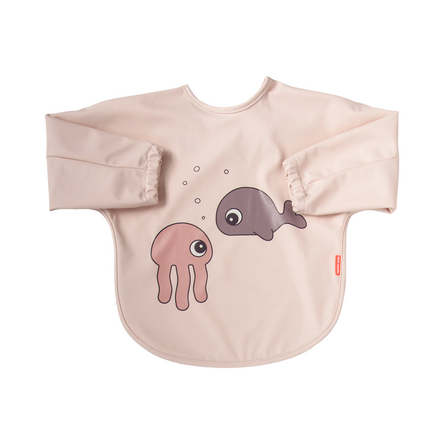Done by Deer ™ Sleeve Bib Sea friends Roze