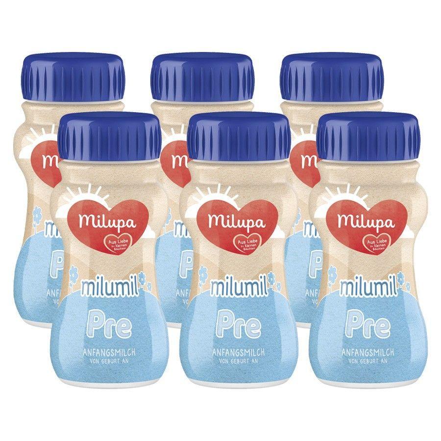 Milupa Anfangsmilch milumil PRE 6 x 200 ml trinkfertig ab der Geburt