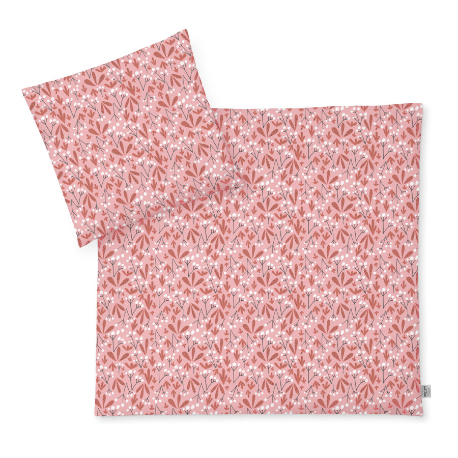 JULIUS ZÖLLNER Ropa de cama de jersey Flora 80 x 80 cm