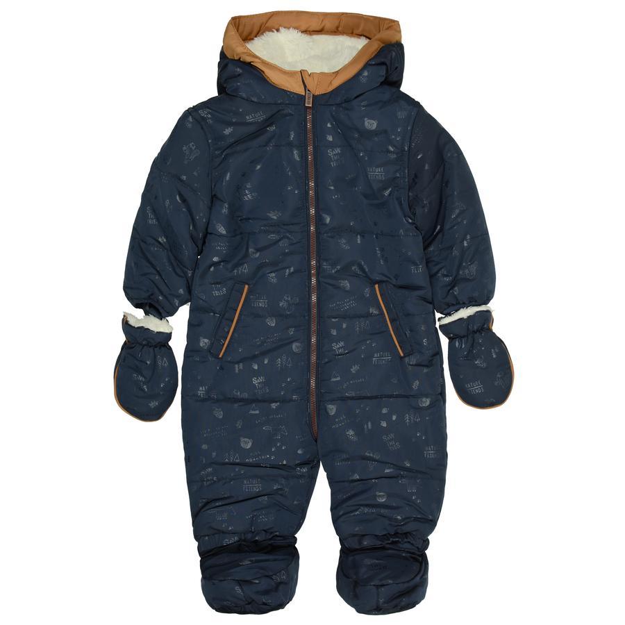 STACCATO Baby-drakt mørkeblå mønster