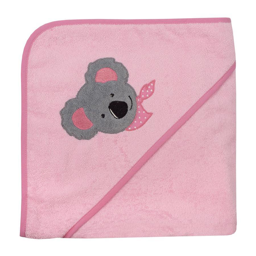 WÖRNER SÜDFROTTIER Asciugamano da bagno con cappuccio Koala perla 100 x 100 cm