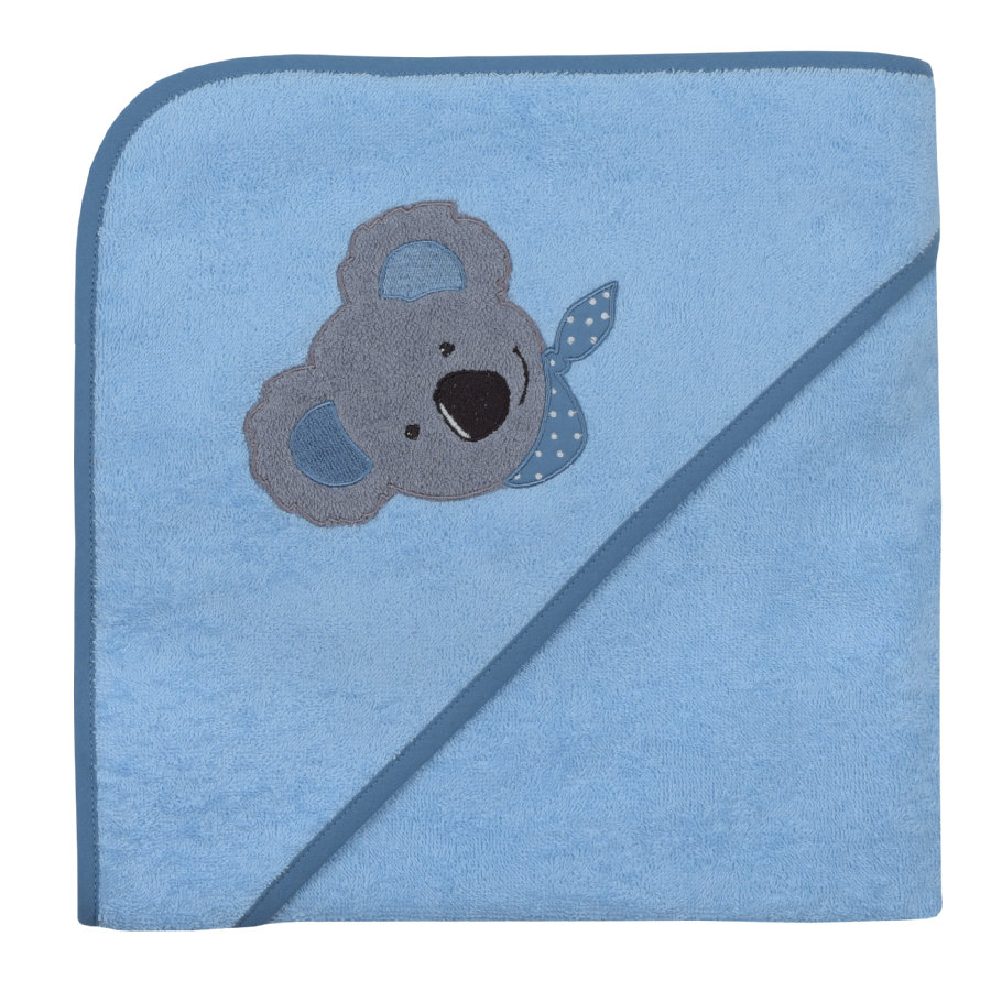 WÖRNER SÜDFROTTIER Badhandduk med huva Koala bleu 100 x 100 cm