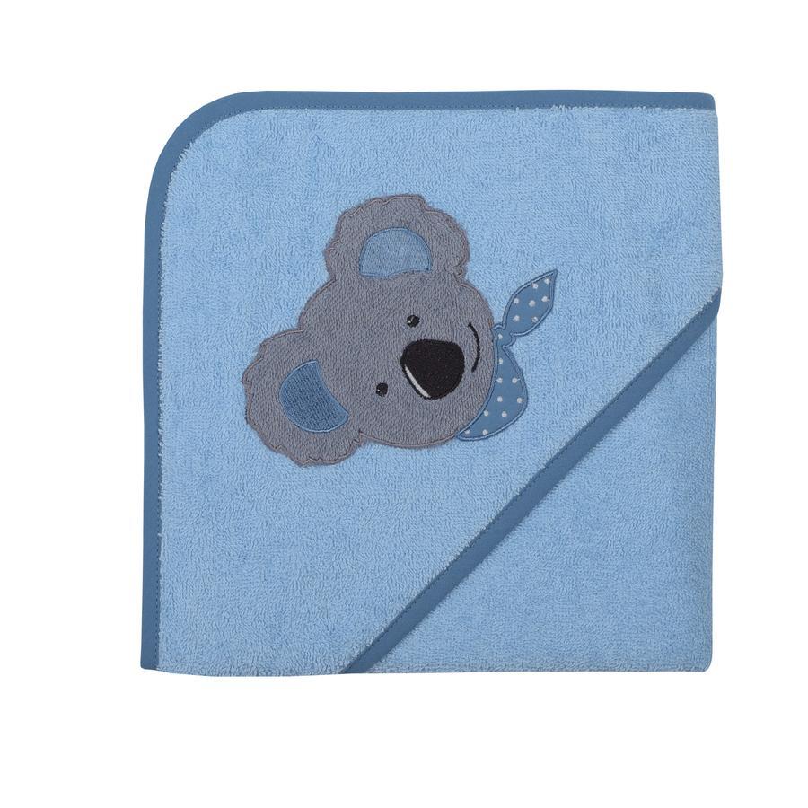 WÖRNER SÜDFROTTIER Kapuzenbadetuch Koala bleu 80 x 80 cm
