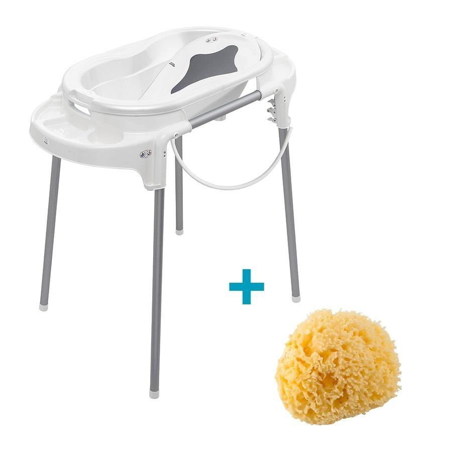 Rotho Baby design koupelnová stanice TOP bílá 4dílná a středomořská houba zdarma