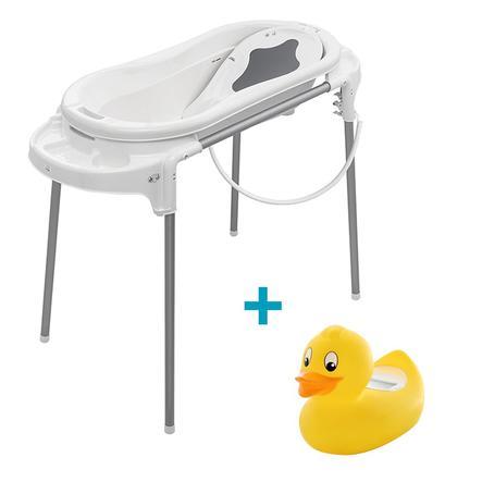 Rotho Baby design  Wanna station TOP Xtra biały i bezpłatny termometr do kąpieli
