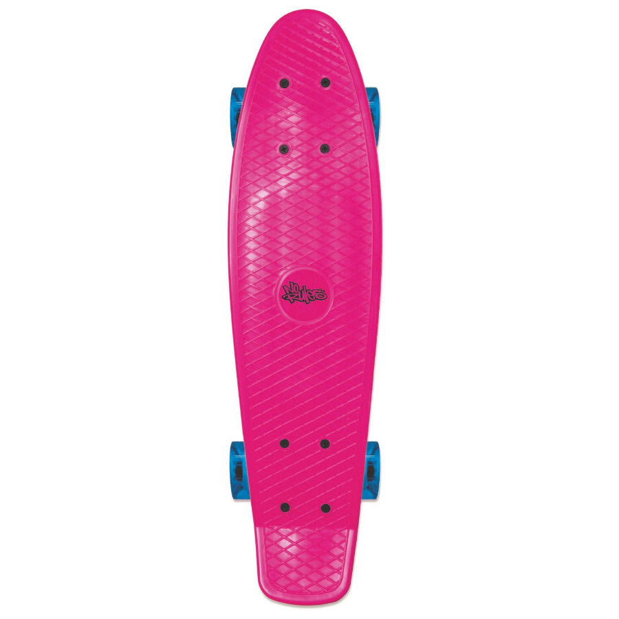 AUTHENTIC SPORTS Skate board fun pink - med opplyste hjul