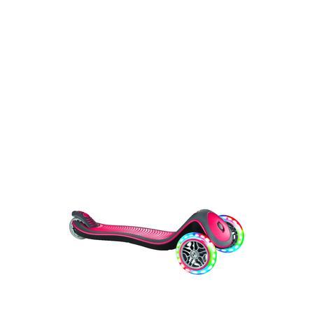 GLOBBER Scoot er ELITE DELUXE LIGHT S rød med opplyste hjul
