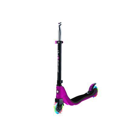 GLOBBER Scooter FLOW 125 LIGHTS ruby pink-grau, mit Leuchtrollen
