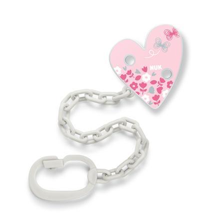 NUK Schnullerband Herz, mit Clip