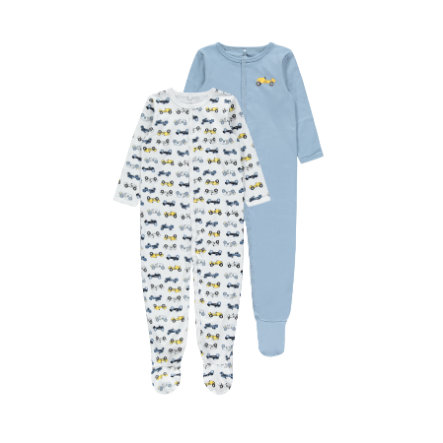 name it Sleepoverall 2-pack Dusty Blue